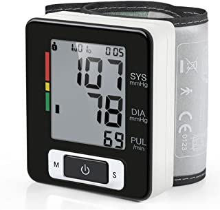 Sphygmomanometer LPY-Wrist Blood Pressure Monitor for Home Use with Large Cuff, Digital Electric BP Tester Machine Meters, 2 User Modes Each with 90 Memory Capacity