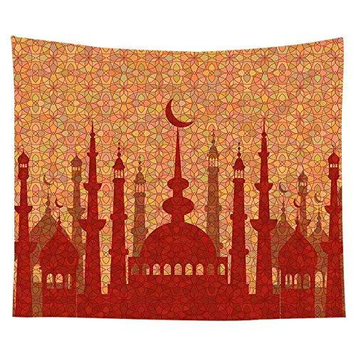 KHKJ Tapiz de Eid musulmán Ramadán Estampado de Tela para Colgar Fondo de Tela de Pared decoración de Dormitorio Manta de Playa A10 200x150cm