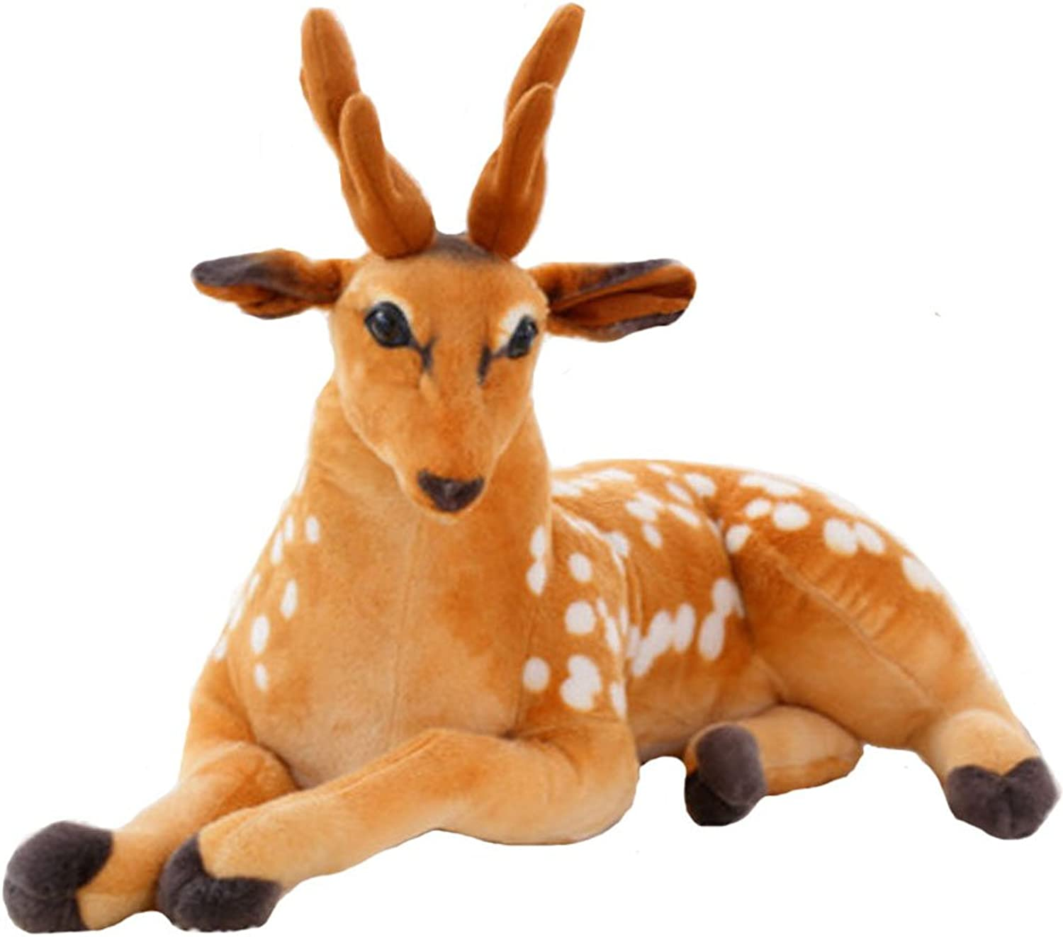 BIBITIME 65cm 25.59 in Plush Deer Toy Animal Stuffed Doll Christmas Decorative Pillow Home Ornaments for Living Room Sofa Couch Valentine's Days Gift Present