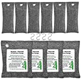 KEEOU 10packs Bamboo Charcoal Air Purifying Bags, Efficient Air Purifier Odor Eliminators Natural Activated Charcoal Odor Absorber Air Freshener Moisture Absorber for Home Closet Fridge Car