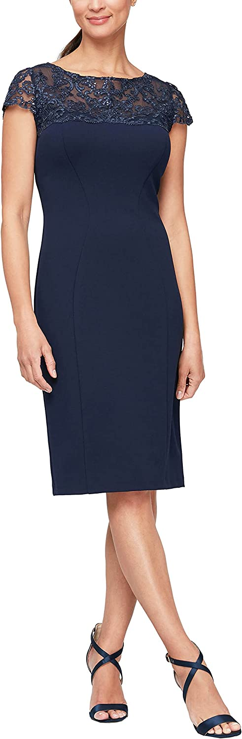 Alex Evenings Max 86% OFF Women's Max 55% OFF Short Embroidered Dresses