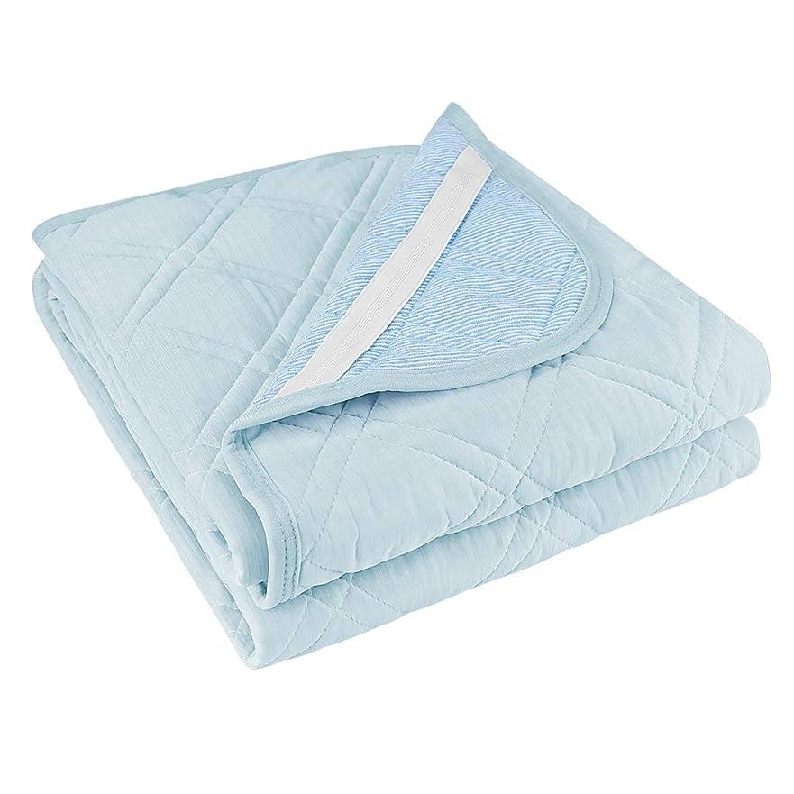 北非武装化テンポ敷きパッド ゼミダブル リバーシブル 接触冷感&パイル地 ベッドパッド シーツ 抗菌 防臭 洗える