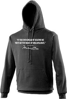 Ali Quote Dream of Beating Me Boxing Men's Black Hoodie/Hoody/Hooded Top