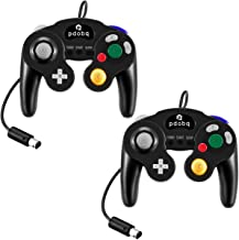 Gamecube Controller, Compatible with Gamecube / Wii U/ Wii / PC / Switch Controller, 2 Packs Classic Wired Gamecube Controller for Super Smash Bros with Turbo Function(2 Black)