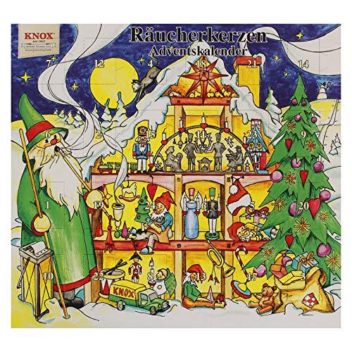 Knox Räucherkerzen Adventskalender mit 24 verschiedenen Düften - Weihnachtshaus - 2020 - Made in Germany