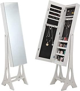 white armoire with mirror