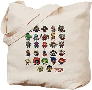 CafePress Marvel Kawaii Heroes Natural Canvas Tote Bag, Reusable Shopping Bag