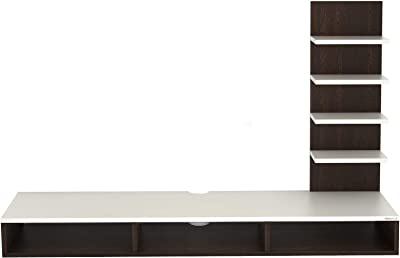 """BLUEWUD Primax Engineered Wood TV Entertainment Wall Unit/Set Top Box Stand for Living Room -Ideal for Upto 42"""" Tv (Wenge Finish)"""