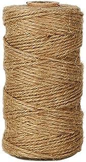 comprar comparacion Lumanuby 1 Rollo de Cordel de Yute Natural Vintage de Cuerda de cáñamo para Bricolaje, Artes, Manualidades y decoración. M...