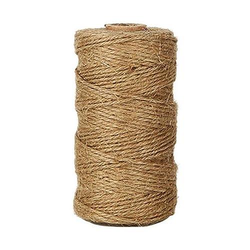 Lumanuby 1 rollo de cordel de yute natural vintage de Cuerda de cáñamo para bricolaje,