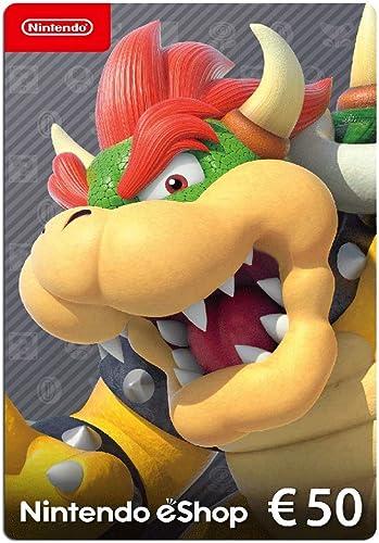 Carte Nintendo eShop 50 EUR | Code de téléchargement (Switch/3DS/Wii-U)