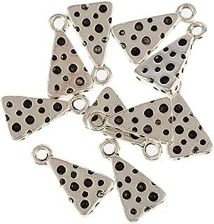 YEYULIN Tibetan Silver Bead charms Alloy Pendants Fit Bracelet 30pcs (CHEESE WEDGE SLICE FOOD)