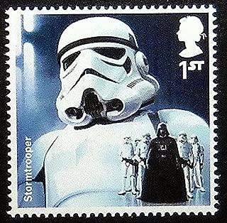 Stormtrooper Star Wars UK -Handmade Framed Postage Stamp Art 0252