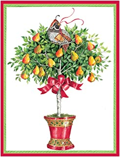 Caspari Partridge in a Pear Tree Boxed Christmas Cards - 32 Cards & Envelopes