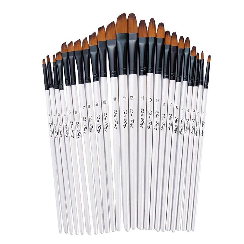 洋服くさびアクチュエータLemoning? 12本のアーティスト水彩絵筆 ブラシ オイル アクリル フラット&ティップ ペイントキット