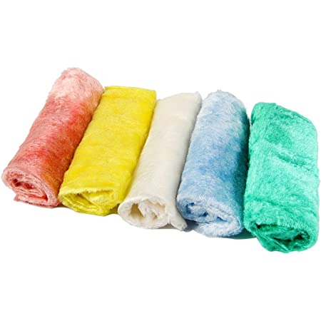 TAKEMI 洗剤のいらないふきん ボアクロス 雑巾 ふしぎクロス マジッククロス 5色組 23*18cm TM-BC5P