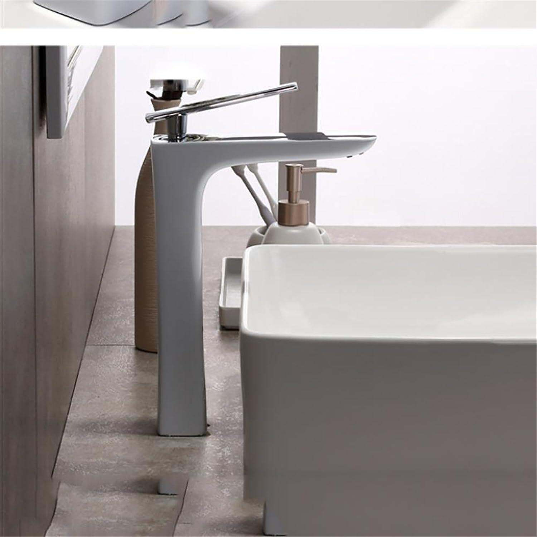 Liu Stylish White Lavatory Faucet Basin Mixer Bathroom Sink Sink Sink Tap Solid Brass Single Lever Basin Mixer Creative Personality, e 1633c2