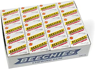 Beechies Peppermint Chewing Gum (100ct Box) - Nostalgic Candy
