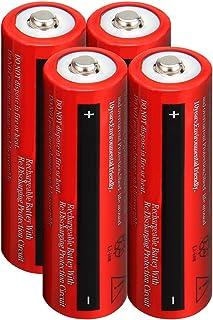 Lightbole 4PCS Li-ion Rechargeable 18650 Batteries 3.7V 4000AMH Button Top for Led Flashlight, Toys, Household Appliance