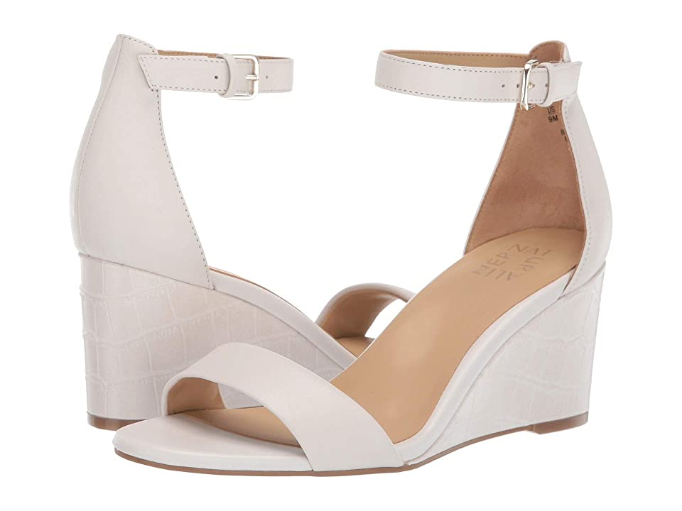 Naturalizer Leonora (Alabaster) Women's Wedge Shoes, White