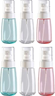 Botes Viaje Transparente Plástico Botella Vacía de Spray,Botellas de Pulverización de Plástico,Botellas de Spray para Vacaciones, Viajes de Negocios, Maquillaje (6Piezas,60ML)