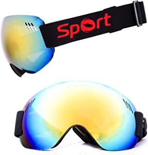 TPU PC Ski Goggles Anti Fog And Sand Proof Large Spherical Glasses Climbing Snow Goggles