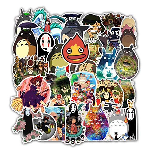 Zonfer 50pcs Aufkleber Miyazaki Hayao Anime Aufkleber Mein Nachbar Totoro/Chihiros Für Skateboard Laptop Wasserdicht Abziehbilder