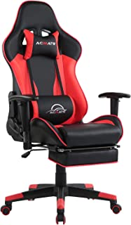 Sponsored Ad - Acmate Massage Gaming Chair Ergonomic Computer Chair with Footrest Reclining Computer Gaming Chair Racing S...