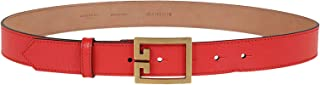 Luxury Fashion | Givenchy Womens BB400HB0NH600 Red Belt |