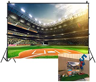 8x8FT Vinyl Photo Backdrops,Sports,Baseball on Fire and Water Background for Selfie Birthday Party Pictures Photo Booth Shoot