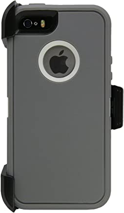 Cell Phone Case [M01] - iPhone 5/5S/5SE Grey/White P000006