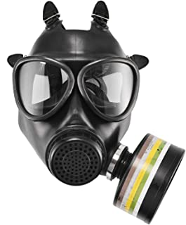 Holulo Organic Vapor Safety Mask Full Face Safety Respirator Eye Protection Skull Dummy with Adjustable Strap For Painting Mining Woodwork Lab Factory (Safety mask+1 Filter)