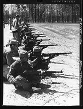 1943 Photo Camp Lejeune, New River, North Carolina. Engineers of the 51st Composite Battalion, U.S. Marine Corps, practice