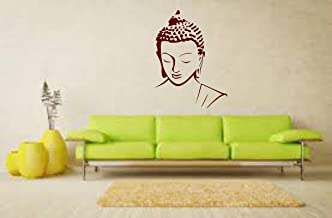 Sticker Studio Lord Buddha Wall Sticker (PVC Vinyl,Size -58 cm x 43 cm)