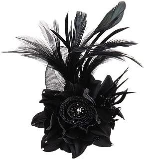 Fascinator Hat for Women Cocktail Charming Big Flower Headband Netting Mesh Hair Clip Tea Party Kentucky Derby