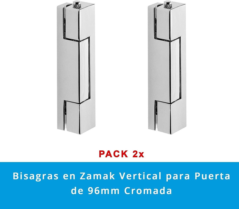 Pack 2 x Bisagras en Zamak Vertical para Puerta de 95 mm