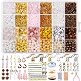 Yholin 8536PCS Earring Making Supplies Kit, 6 Colors Gemstone Crystal Chips Pearl Beads Seed Bugle Bead...
