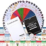 Medical Notes 67 Medical Reference Cards (3.5' x 5' Cards) for Internal Medicine, Surgery, Anesthesia, OBGYN,...