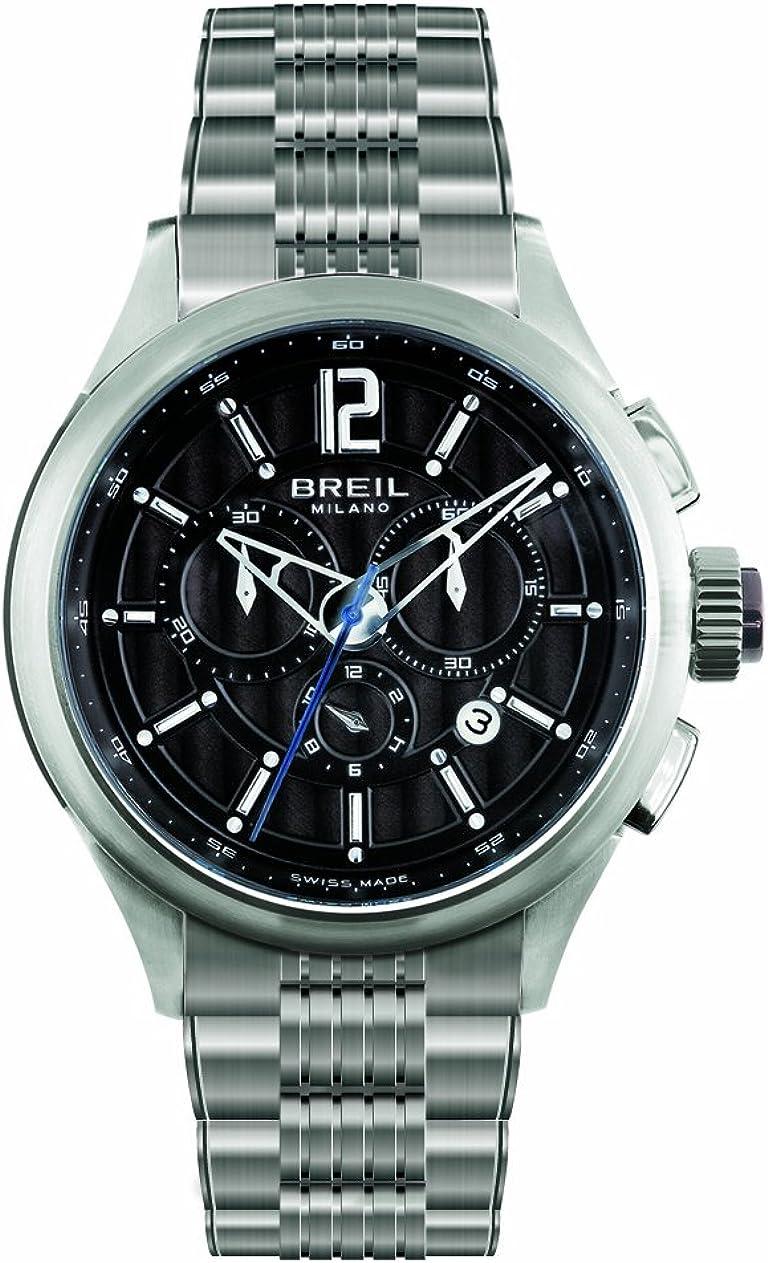 Breil BW0548 - Reloj cronógrafo de mujer de cuarzo con correa de acero inoxidable plateada (cronómetro) - sumergible a 100 metros