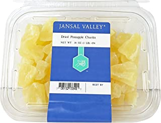 Jansal Valley Dried Pineapple Chunks, 1 Pound