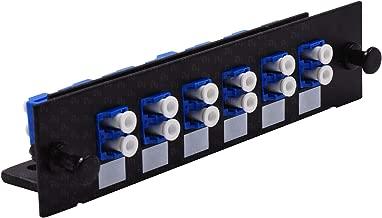 LC Fiber Adapter for Fiber Patch Panel Loaded w/6 LC UPC Duplex OS1/OS2 Singlemode Blue - LGX Footprint