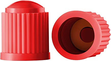 Valve-Loc Tire Valve Caps (25-Pack) Red, Universal Stem Covers for Cars, SUVs, Bike and Bicycle, Trucks, Motorcycles   Heavy-Duty, Airtight Seal   Screw-On, Easy-Grip Use (Red)