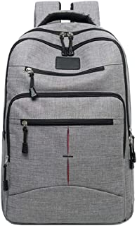Large Capacity Computer Canvas Travel Boarding Backpack Business Durable Water Resistant Travel Laptop Bag Anti Theft Carry On Bookbags for Men Women L-0921 (Color : Gray, Size : 42cm*29cm*10cm)