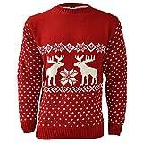 maglione natalizio per uomo, motivo renne red small