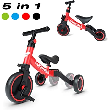besrey 5 in 1 Toddler Bike for 1-3 Years Old Kids, Toddler Tricycle Kids Trikes Tricycle Ideal for Boys Girls