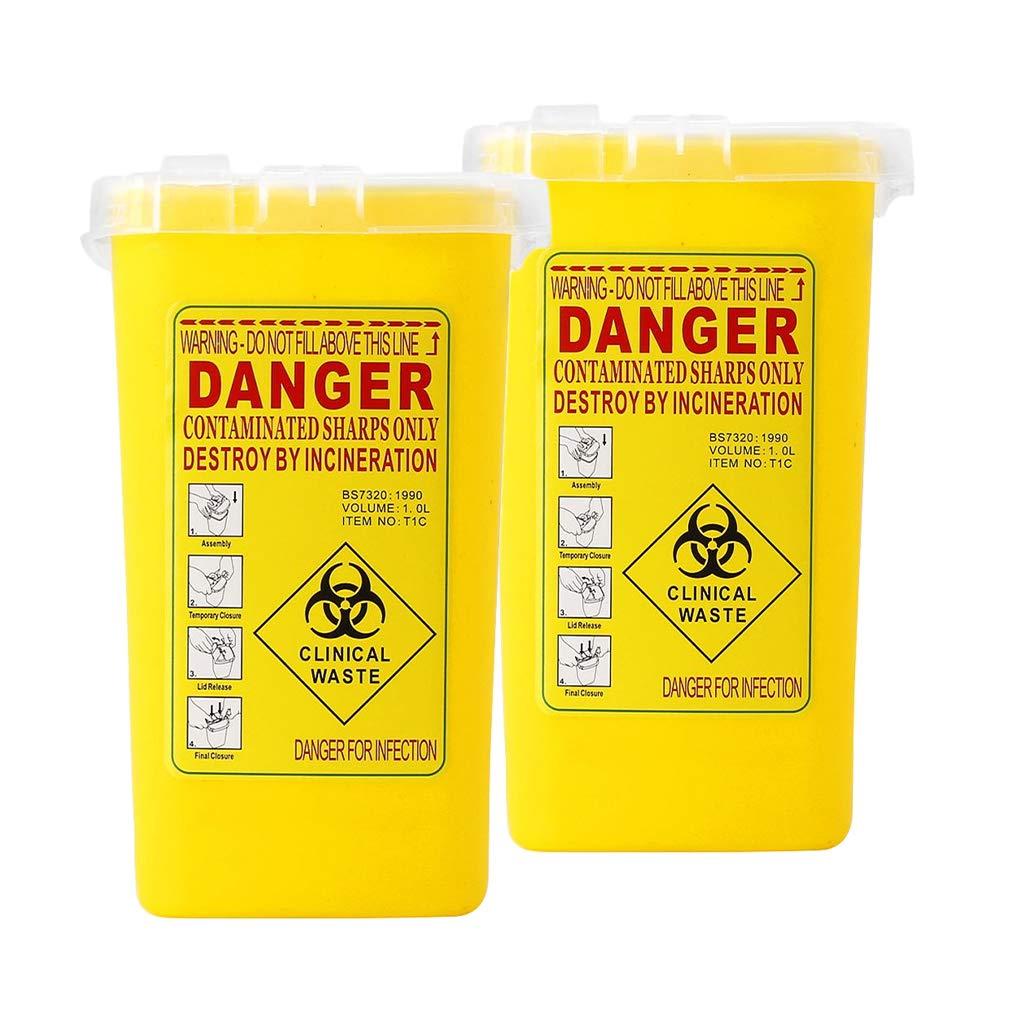 Almencla 2x Ranking TOP19 Sharps Container Collectin Popular standard Disposal Needle Biohazard
