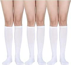 3 Pairs Women Knee Socks Soft Cotton Socks Long Tube Socks for Halloween Favor, Daily Wear