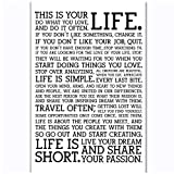 FACAIA Holstee Manifesto Life Motivational Wall Art Posters and Prints Canvas Painting Living Room Home Decor-50x70cm No Frame