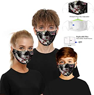 Aadiju Protective Face Mask, Unisex Mouth Mask, Adult Woven Fabric 3D Printed Dustproof Mask with Adjustable Buckle