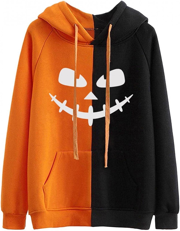 Aniwood Halloween Sweatshirts for Women Skeleton Print Women Casual Long Sleeve Crewneck Pullover Tops Sweaters Shirts